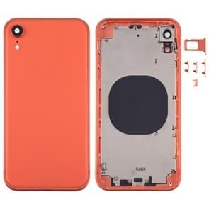 Square Frame Battery Back Cover met SIM Card Tray & Side keys voor iPhone XR(Orange)