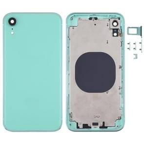 Square Frame Battery Back Cover met SIM Card Tray & Side keys voor iPhone XR(Groen)