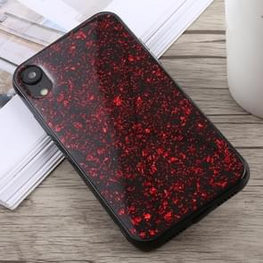 Glittery Powder Shockproof Soft TPU Case for iPhone XR(Red)