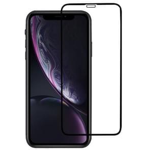 9 H Plasma oliën volledige scherm Tempered glas Film voor iPhone XR (zwart)