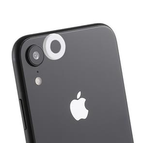 Rear Camera Lens Protection Ring Cover with Eject Pin for iPhone XR (White)