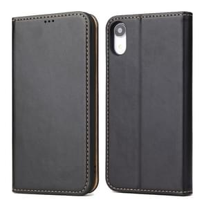 Horizontal Flip PU Leather Case for iPhone XR, with Holder & Card Slots & Wallet(Black)