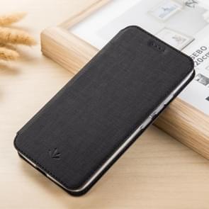 ViLi DMX multifunctionele horizontale Flip Leather Case for iPhone XR, met sleuf & kaarthouder (zwart)