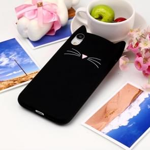Cat Whiskers Pattern Silicone Protective Case for iPhone XR (Black)