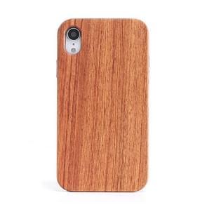 Schokbestendige TPU + hout volledige beschermhoes voor iPhone XR