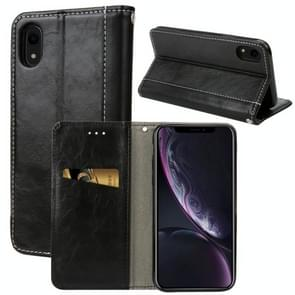 Retro Book Design Horizontal Flip PU Leather Case for iPhone XR, with Holder & Card Slots(Black)