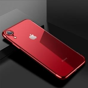 CAFELE Ultra-thin Electroplating Soft TPU Shockproof Protective Case for iPhone XR(Red)