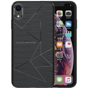 NILLKIN Rhombus Texture TPU Protective Back Cover Case for iPhone XR (Black)