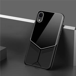 TOTUDESIGN Grace serie TPU PC + glas beschermhoes voor iPhone XR (zwart)