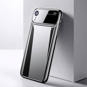 TOTUDESIGN Magic Mirror serie Shockproof PC + glas beschermende Case voor iPhone XR (grijs)