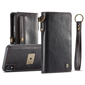 CaseMe Detachable Horizontal Flip Leather Case for iPhone XR, with Card Slot & Strap & Wallet & Photo Frame (Black)