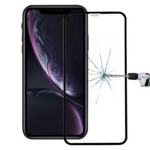 9H anti-vingerafdruk Plasma volledige scherm Carbon Fiber zachte randen getemperd glas Film voor iPhone XR (zwart)