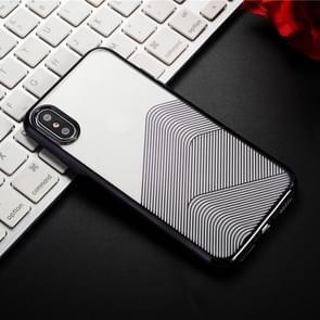 SULADA Nano Plating + 3D Radium Carving TPU Soft Case for iPhone XR (Black)