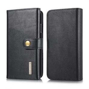 DG.MING Triple Fold Crazy Horse Texture Magnetic Horizontal Flip Leather Case for iPhone XR, with Holder & Card Slots & Wallet (Black)