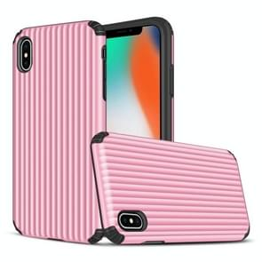 Angibabe Travel Box Shape TPU + PC Protective Case for iPhone XR (Pink)