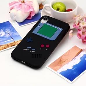 Game Boy Pattern Silicone Protective Case for iPhone XR (Black)