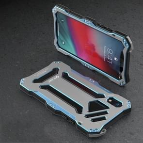 Gundam Rugged Armor Metal + TPU Protective Case for iPhone XR(Grey)