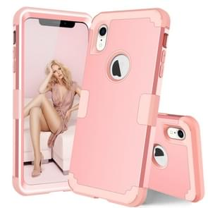 Dropproof PC + silicone hoesje voor iPhone XR (rosé goud)