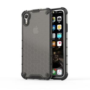 Shockproof Honeycomb PC + TPU Protective Case for iPhone XR (Black)