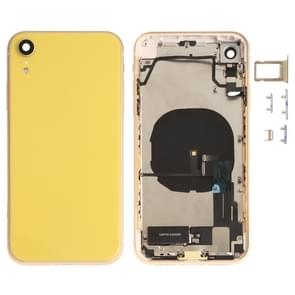 Battery Back Cover Assembly (with Side Keys & Loud Speaker & Motor & Camera Lens & Card Tray & Power Button + Volume Button + Charging Port + Signal Flex Cable & Wireless Charging Module) for iPhone XR(Yellow)