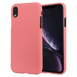 MERCURY GOOSPERY SOFT FEELING Liquid TPU Drop-proof Soft Case for iPhone XR(Pink)