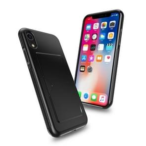 DUX DUCIS Pocard Series TPU + PC +PU Leather Protective Case for iPhone XR, with Card Slot(Black)