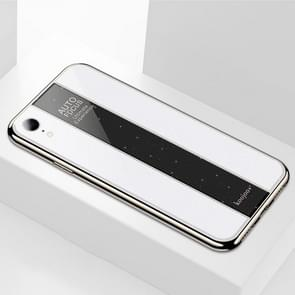 Gegalvaniseerde spiegel glazen Case voor iPhone XR (wit)