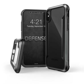 X-doria PC+Metal+TPU Built-in Air Tank Shockproof Protective Case for iPhone XR(Black)
