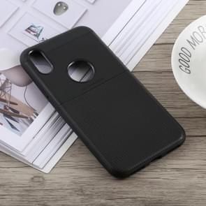 Anti-slip Square TPU Case for iPhone XR (Black)