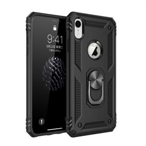 Armor Shockproof TPU + PC Protective Case for iPhone XR, with 360 Degree Rotation Holder (Black)