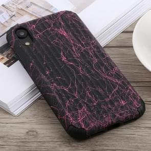 Travel Box Shape Painted Marble Protective TPU + PC Case for iPhone XR (Black Red)