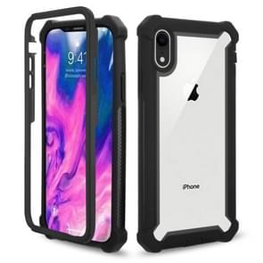 Four-corner Shockproof All-inclusive Transparent Space Case for iPhone XR(Black)