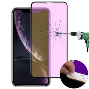 Ultra Thin 9H 3D Anti Blue-ray Full Screen Carbon Fiber Tempered Glass Film for iPhone 11 / XR(Black)