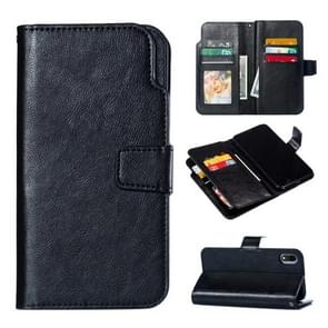 Crazy Horse Texture Horizontal Flip Leather Case for iPhone XR, with Card Slots & Wallet & Photo Frame (Black)