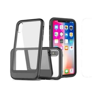 Transparent PC Full Coverage Shockproof Protective Case for iPhone XR (Black)