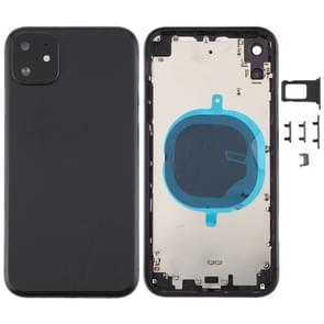 Back Housing Cover with Appearance Imitation of i11 for iPhone XR (with SIM Card Tray & Side keys)(Black)