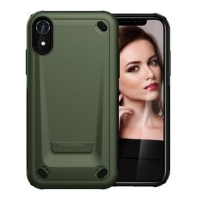 Ultra-dunne TPU + PC Mechanic Shockproof beschermhoes voor iPhone XR (Army Green)