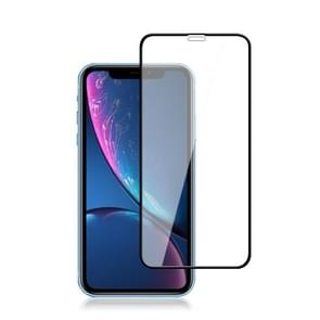 mocolo 0.33mm 9H 2.5D Silk Print Tempered Glass Film for iPhone XR (Black)