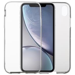 Ultra dun dubbelzijdig volledige transparante TPU Case voor iPhone XR (grijs)