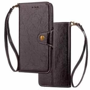 Crazy Horse Texture Retro Business Horizontal Flip Leather Case for iPhone XR, with Holder & Card Slots & Wallet (Black)