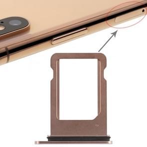 SIM-kaart lade voor iPhone XS (enkele SIM-kaart) (goud)