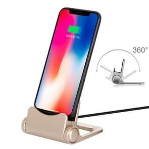 B-D03 2A 8 Pin Port Rotatable Charging Dock Station, Cable Length: 1m, For iPhone XR, iPhone XS / X, iPhone XS Max, iPhone 8 Plus, iPhone 8, iPhone 7 Plus, iPhone 7, iPhone 6 & 6s, iPhone 6 Plus & 6s Plus (Gold)