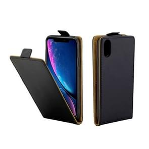 Business Style Vertical Flip TPU Leather Case for iPhone XR, with Card Slot (Black)
