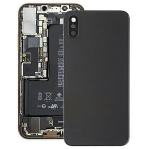 Battery Back Cover with Back Camera Bezel & Lens & Adhesive  for iPhone XS(Black)