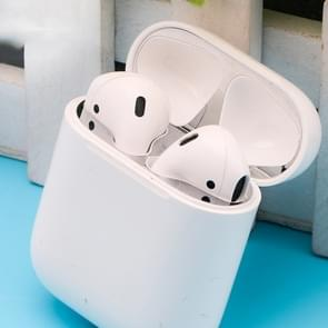 Metal Dustproof Sticker for Apple AirPods 2 (Wireless Charging)(Silver)