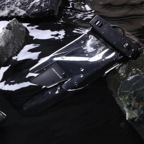 JOYROOM JR-CY264 TPU transparante touch screen hand-held IPX8 waterdichte tas voor smartphones 6,8 inch of lager (zwart)