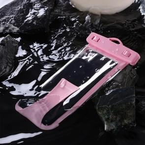 JOYROOM JR-CY264 TPU transparante touch screen hand-held IPX8 waterdichte tas voor smartphones 6,8 inch of lager (roze)