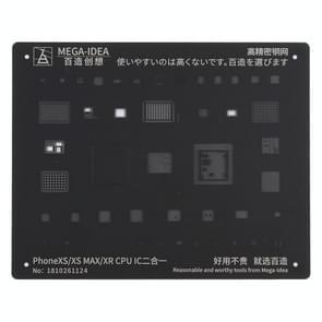 QIANLI MEGA-IDEE Voor iPhone XS / XS Max / XR Mobiele Telefoon Rework Repair BGA Reballing Black Stencils