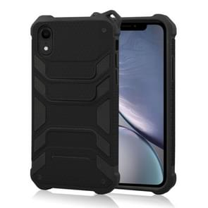Shockproof PC + TPU Spider-Man Armor Protective Case for iPhone XR (Black)