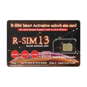 R-SIM 13 Smart Activation Unlock SIM Card, For iPhone XR / iPhone XS Max / iPhone X & XS / iPhone 8 & 8 Plus / iPhone 7 & 7 Plus / iPhone 6 & 6s & 6 Plus & 6s Plus